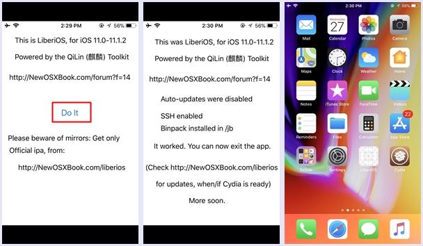 install liberiOS app
