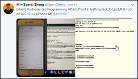 Min(Spark) Zheng iOS 12.1.2 root access