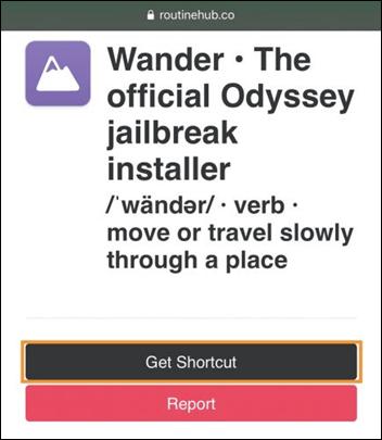 get wander shortcut