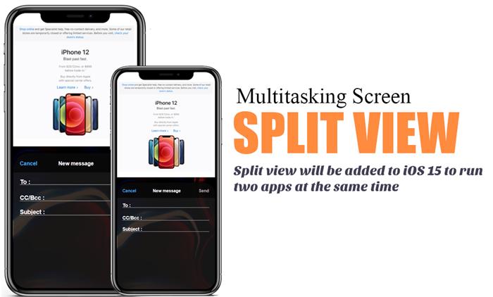 iOS 15 Split view