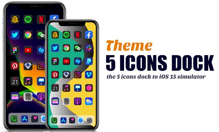 iOS 15 Five icon dock