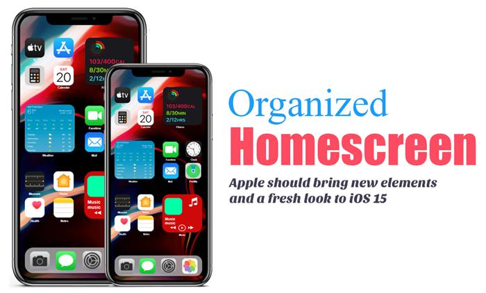 iOS 15 Organized Homescreen